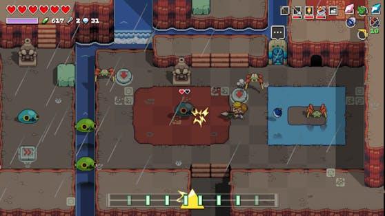 """Mit """"Cadence of Hyrule – Crypt of the NecroDancer Featuring The Legend of Zelda"""" begeben sich Entdecker:innen in ein rhythmisches Action-Abenteuer."""