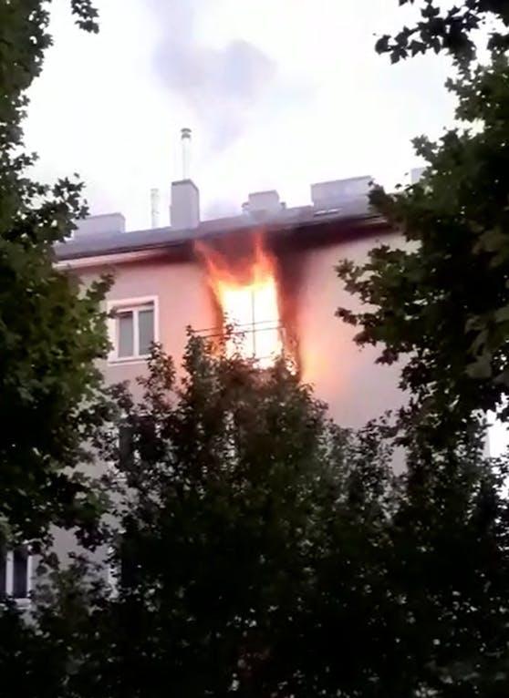 Es kam zu einem Brand in Wien.