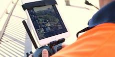 Video zeigt Drohnen-Einsatz bei der Fernwärme Wien