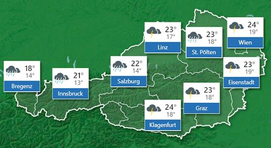 Wetterprognose für Montag, 3. August 2020