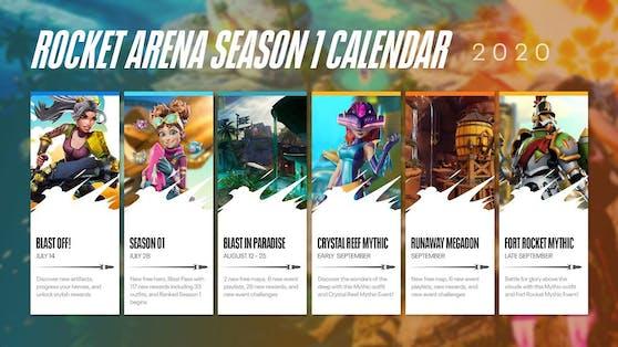 Rocket Arena Saison 1 mit kostenloser Spielmöglichkeit.