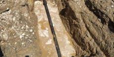 Rohrbruch: Wasserversorgung gestört, Straße gesperrt