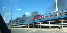 Riesiger Stau nach Autobrand auf der Wiener Tangente