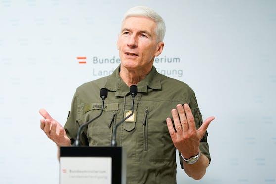 Generalstabschef Robert Brieger hat sich in Heimquarantäne begeben.