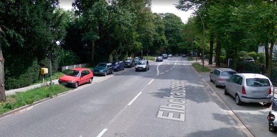 An dieser Straßenecke in Hamburg parkte der Wagen mitsamt Leiche auf der Rückbank