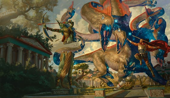 """""""Mythic Odysseys of Theros"""" ist als Hardcover und digital erhältlich."""