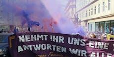 Linke Demo zieht nach Favoriten, Polizei-Großeinsatz