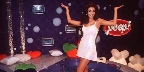 """Verona Pooth (damals noch Feldbusch) machte die Erotiksendung """"Peep!"""" Mitte der 90er zum Kult-Hit."""