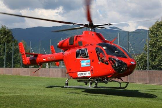 Mit dem Hubschrauber Martin 3 wurde der Bub ins Spital nach Linz geflogen.