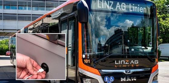 Die Linz AG präsentierte am Montag die ersten neuen Busse vor.