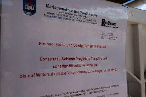 Mauthausen sperrt den Kindergarten, Parks und das Freibad.