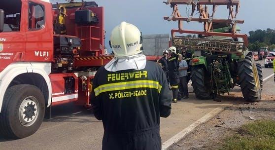 Symbolfoto eines Einsatzes der St. Pöltner Feuerwehr
