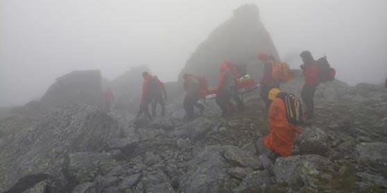Zwei Französinnen waren im Bereich der Grünbergspitze in Bergnot geraten (6. Juli 2020)