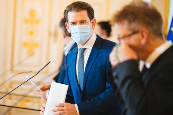 Bundeskanzler Sebastian Kurz und Gesundheitsminister Rudolf Anschober