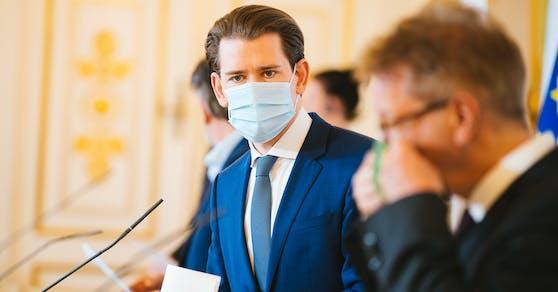 Bundeskanzler Sebastian Kurz und Gesundheitsminister Rudi Anschober.