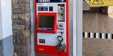 Unbekannte knacken 3 ÖBB-Ticketautomaten