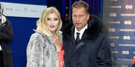 Luna Schweiger mit Papa Til