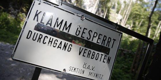 In der Bärenschützklamm in Mixnitz nördlich von Graz ist es am Mittwoch zu Mittag zu einem Felssturz gekommen.