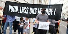 Tschetschenen demonstrierten in Wien gegen Morde