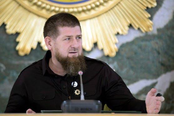 Tschetscheniens-Präsident Ramsan Kadyrow während einer Corona-Krisensitzung am 26. Mai 2020