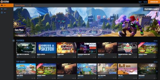 """""""Core"""" erlaubt das Erstellen und Spielen zahlloser Games."""