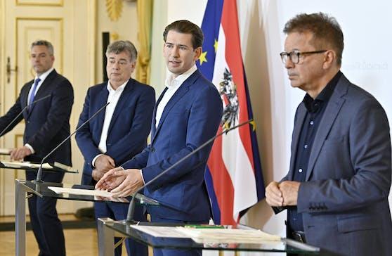 Die Regierungsspitze trat am Donnerstag (09.07.2020) vor die Presse
