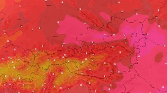 Eine Hitze-Welle rollt über Österreich