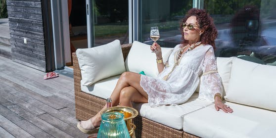 Christina Lugner rührt die Werbetrommel für Lignano.