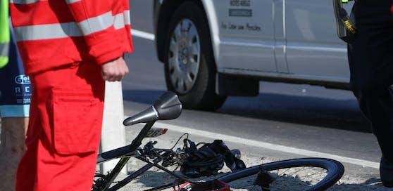 Symbolfoto eines Fahrrad-Unfalls.