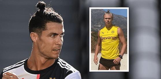 Erling Haaland trägt das Ronaldo-Zöpfchen.