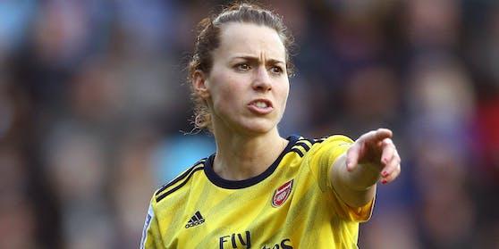 Viktoria Schnaderbeck im Arsenal-Trikot