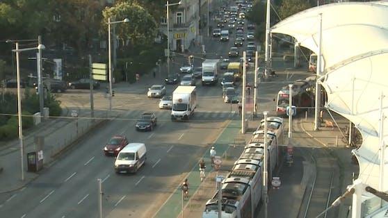 Das Video3-Team dokumentierte am Montag sechs Stunden lang den Verkehr am Gürtel.