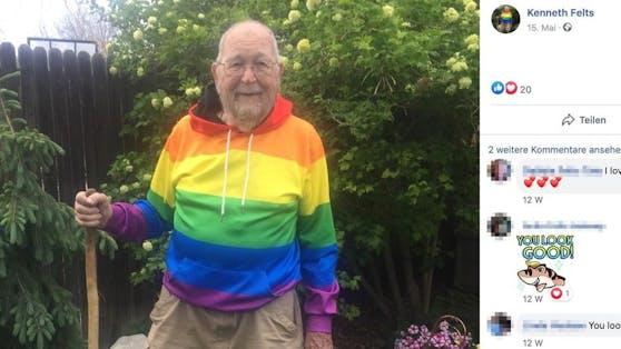 Mit 90 Jahren steht Kenneth Felts nun zu seiner Homosexualität und fühlt sich damit endlich frei.