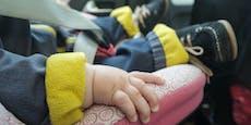 Baby bei 32 Grad in PKW eingesperrt