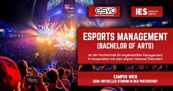 """Studienprogramm """"eSports Management"""" startet in Wien."""