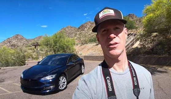 Der Tesla Model S von US-Auto-Blogger Steve Sasman ist innerhalb von 8 Jahren eine halbe Million Kilometer gefahren.