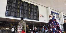 Flughafen Brüssel: mobiles Corona-Testzentrum