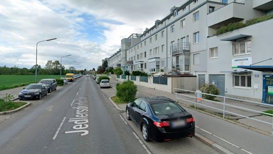 Blick in die Jedlersdorfer Straße in Wien-Floridsdorf. Symbolbild