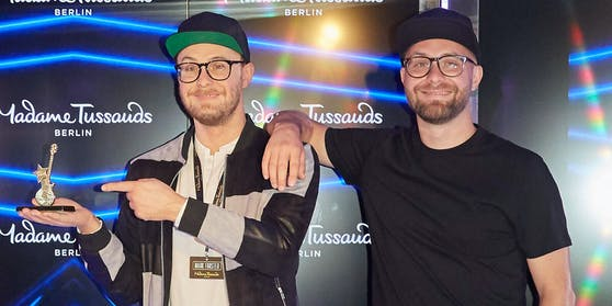 """Im Berliner """"Madame Tussaud's"""" steht jetzt eine Wachsfigur von Sänger Mark Forster: Aber wer ist wer?"""