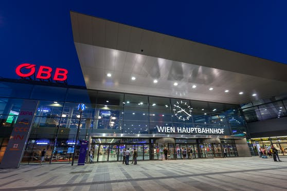 Blick auf den Wiener Hauptbahnhof