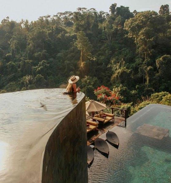 Pool des Hotels Ubud Hanging Gardens auf Bali