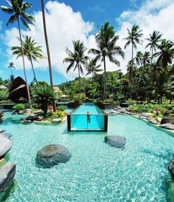 Pool auf der Insel Laucala