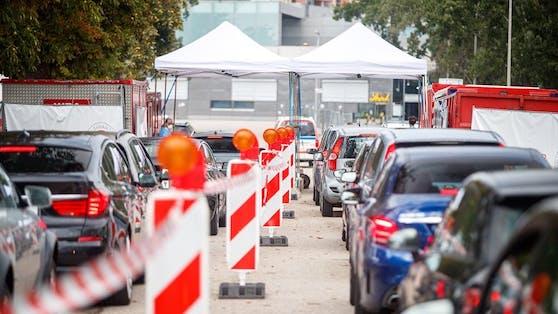 Corona-Drive-In in Wien