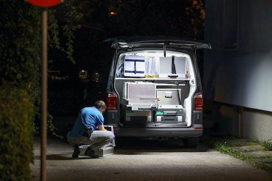 Die Spurensicherung am Tatort in Wels