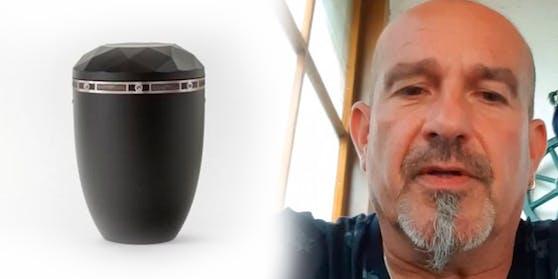 Die Urne vonRobert Ellmanns vater wurde gestohlen
