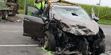Pkw-Lenker kommt bei Unfall mit Lkw ums Leben