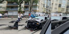 Lenker von Muscle-Car crasht in Wien-Favoriten mit SUV