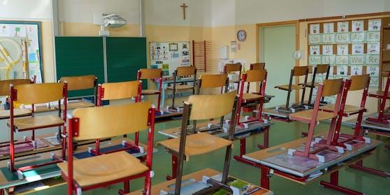 Noch sind die Klassen leer.