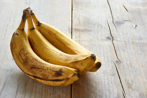 Die beliebten Bananen werden leider sehr leicht braun.
