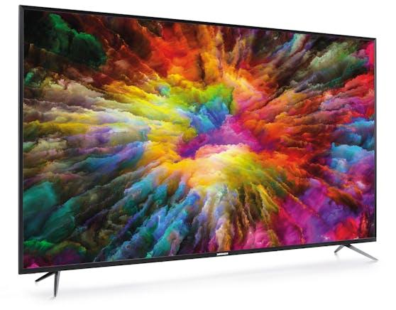 Der Medion LIFE X17575 Ultra HD Smart-TV ist 75 Zoll groß und kostet 799 Euro.